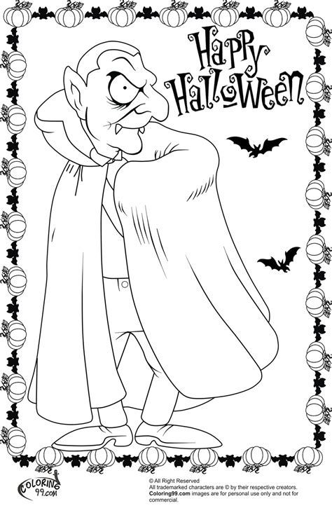 Halloween Dracula Coloring Pages   Minister Coloring