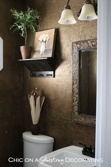 tissue paper wall treatment powder room pinterest
