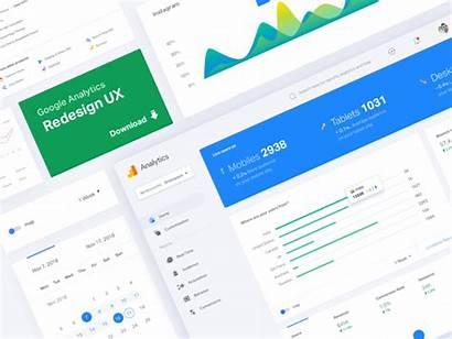Google Analytics Redesign Dribbble Dashboard Check App