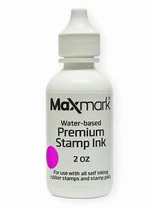Maxmark, Premium, Refill, Ink, For, Self, Inking, Stamps, And, Stamp, Pads, Pink, Color