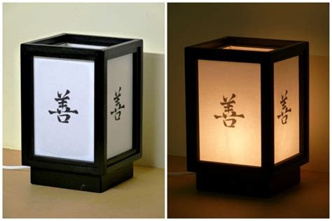 le de chevet japonaise bois papier zen luminaires par shojilights