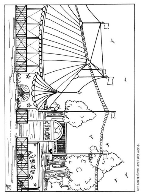 dibujos  colorear carpa de circo eshellokidscom