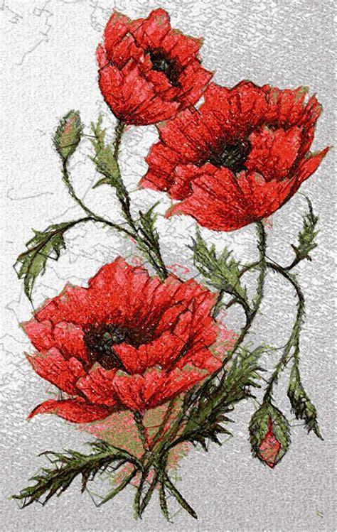 free embroidery designs poppy photo stitch free embroidery design free