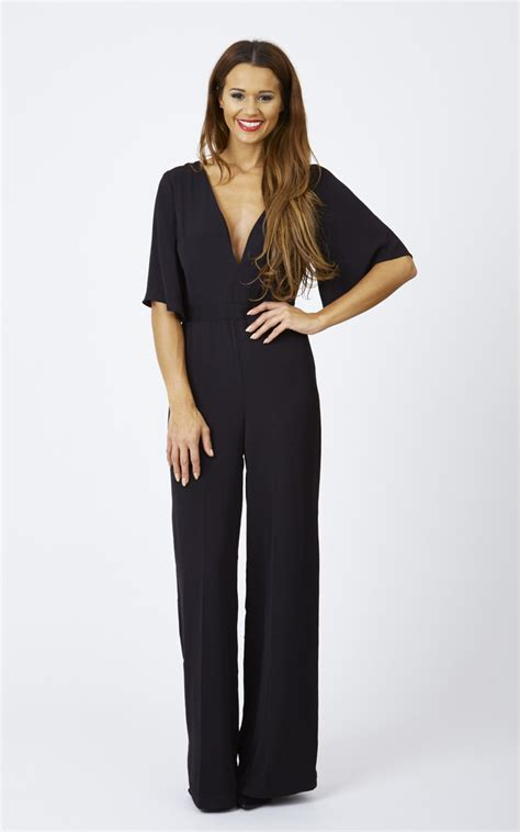 wide leg romper jumpsuit fluted sleeve wide leg jumpsuit silkfred