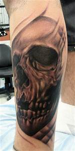 Realistic Black and Grey Skull by Carlos Rojas: TattooNOW