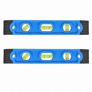 Wasserwaage Mit Magnet : 2 stk wasserwaage mit magnet mini 225mm 3 libellen horizontal vertikal diagonal ebay ~ Watch28wear.com Haus und Dekorationen