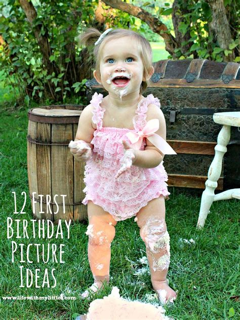 First Birthday Picture  Ee  Ideas Ee   Life With Littles