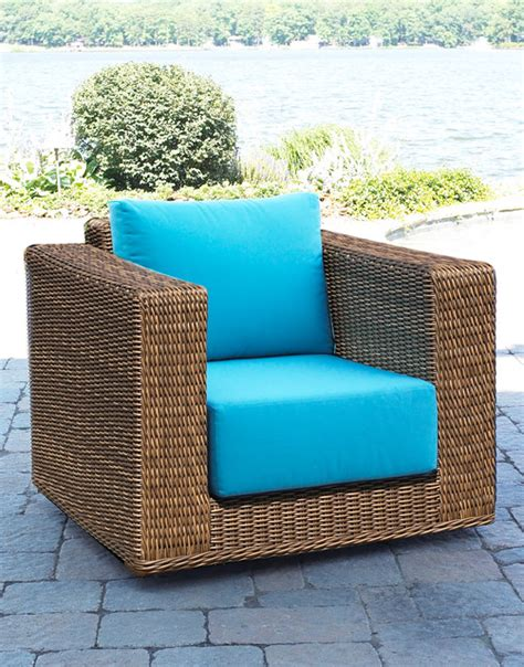 south beach outdoor wicker swivel chair contemporary