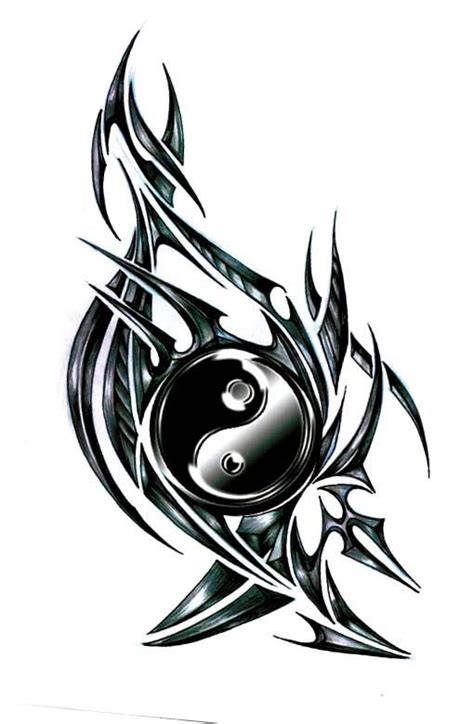 Tatouage Ying Yang Tatouage Tribal Yin Yang Yy Tatouages Tribaux Dessins De Tatouage Tribal Et Tatouage