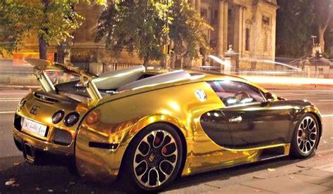 Bugatti Veyron In Gold
