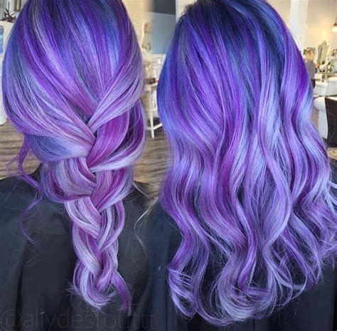 Purple Blue Hair Color Appreciated By