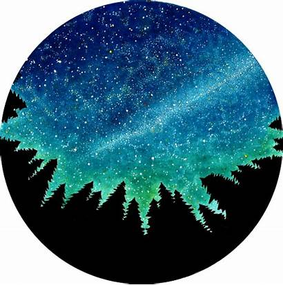 Watercolor Painting Easy Circle Galaxy Beginners Cielo