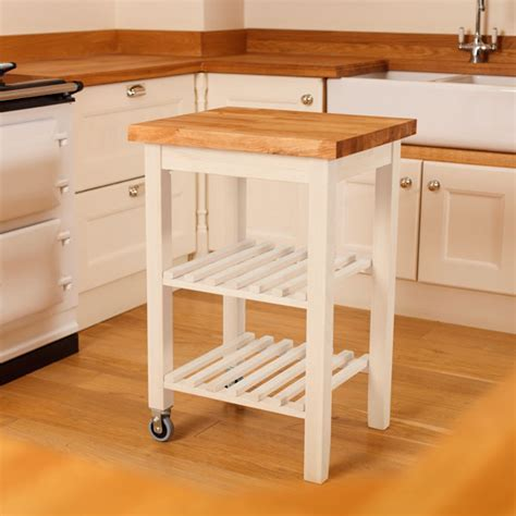 Wooden Kitchen Trolleys & Butcher Block Trolley   Worktop