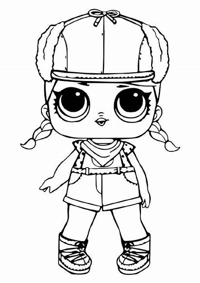 Lol Coloring Pages Doll Dolls Colouring Omg