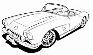 Chevrolet corvette coloring page free printable coloring for 1960 chevy hot rod