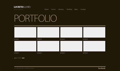 psd portfolio template  html images