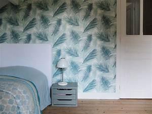 Papier Peint Bureau : du papier peint dans ma chambre d 39 amis madame d core ~ Melissatoandfro.com Idées de Décoration