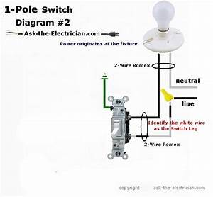 Light Switch Single Pole Wiring Diagram