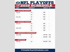 NFL Football Schedule 201617 Season Schedule