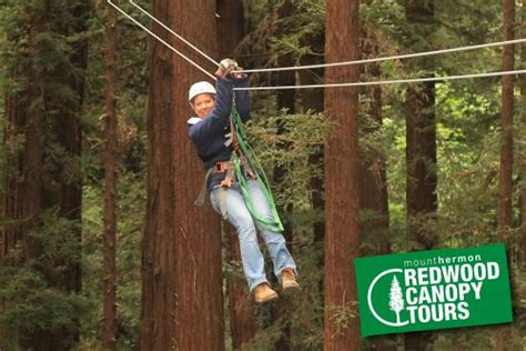 redwood canopy tours at the end of one zip line picture of mount hermon