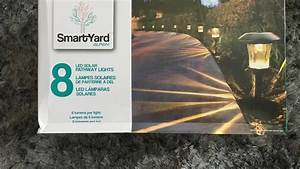 smartyard solar led large pathway lights from costco youtube With outdoor solar lights at costco
