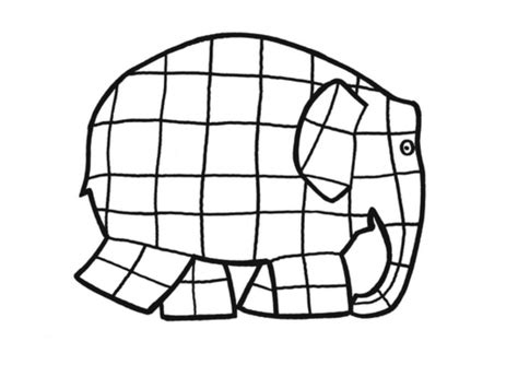 Elmer The Elephant Template by Elephant Clip For Cliparts Co