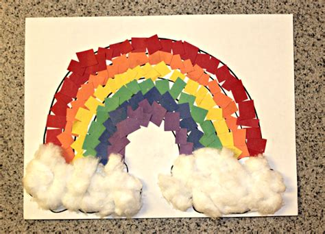 rainbow paper craft  kids   play