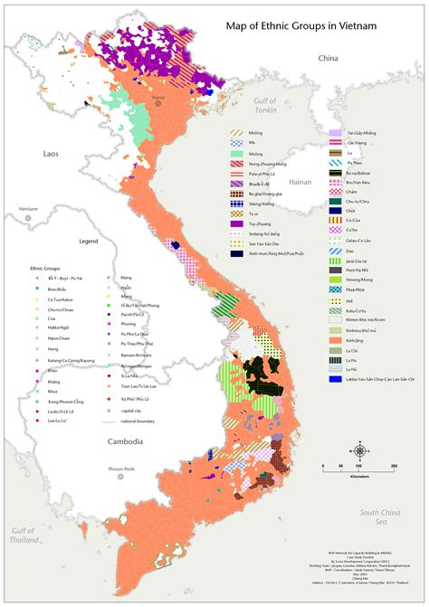 ethnic map vietnam vietnam  reunified