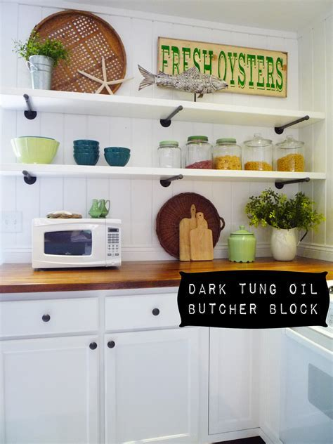 flea market trixie: Dark Tung Oil Butcher Block Countertops