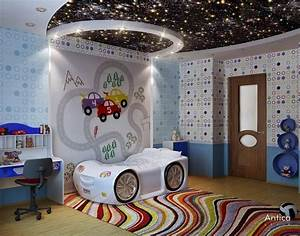 Cool Bedroom Ceiling Interior Design With Outer Space ...