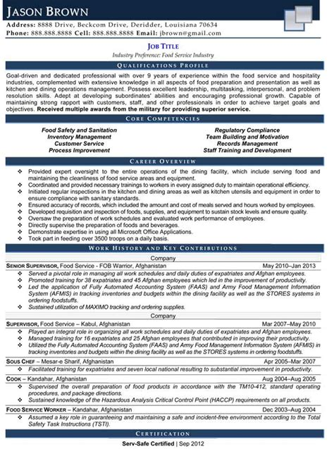 cuisine pro services professional manager resume project manager