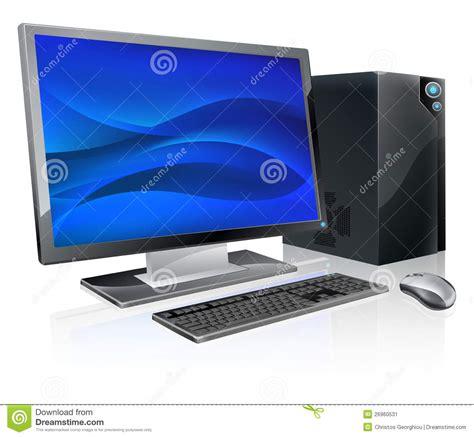 ordinateur de bureau neuf poste de travail d 39 ordinateur de pc de bureau image stock