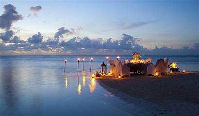 Romantic Sea Candles Dinner Nature Clouds 1zoom