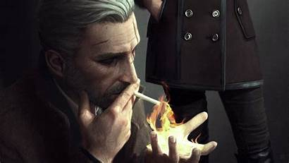 Witcher Geralt Rivia Noir Hunt Artwork Wild
