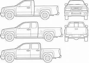2007 Gmc Canyon Pickup Truck Blueprints Free