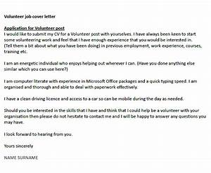 Volunteer Job Cover Letter Example Icover Org Uk