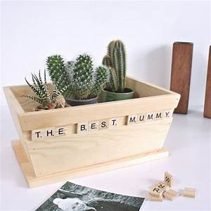 personalised wooden scrabble pot planter by warner39s end With wooden letter planter