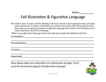 fun  creative autumn writing  figurative language