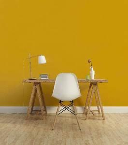 Deco Jaune Moutarde : peinture 1825 couleur jaune moutarde dans un bureau ~ Melissatoandfro.com Idées de Décoration