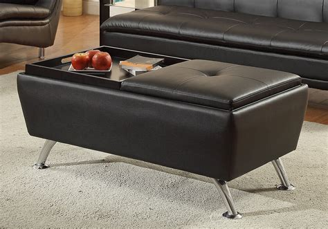 Modern Living Cocktail Coffee Table Ottoman Flip Over