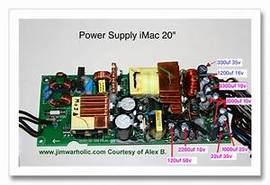 Capacitor List And Diameter Sizes For Power Supply Apple Imac 20 Inch