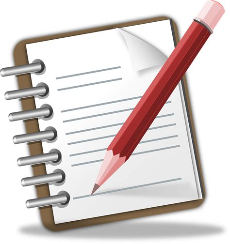 Notepad Memo Pencil · Free Vector Graphic On Pixabay