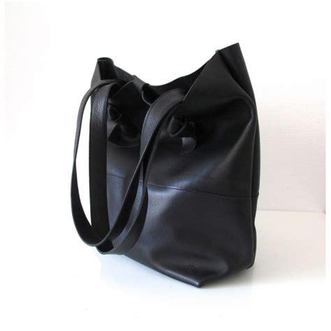 parure bureau cuir sac cabas grand en cuir noir ligne aurore le site du
