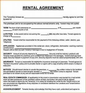 3 house rental agreement teknoswitch With housing lease template