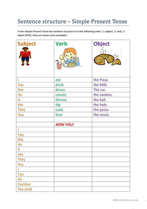 present simple sentence structure questions  answers