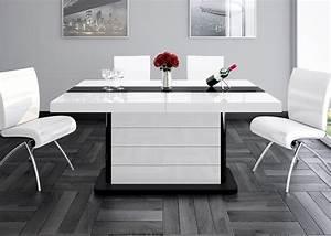 Esstisch Weiß Schwarz : design esstisch he 555 wei schwarz hochglanz ausziehbar 160 210 260 cm kaufen bei ~ Whattoseeinmadrid.com Haus und Dekorationen