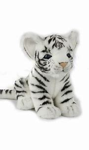 Set of 4 Handcrafted White Tiger Cub Stuffed Animals 6.6 ...