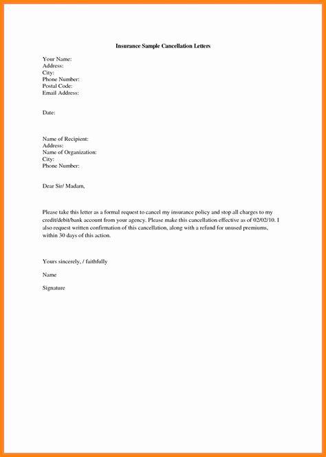 cancellation letter  auto