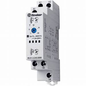 Finder 80 01 0 240 0000 Time Delay Relay  Timer  1 Changeover Contact Ip20