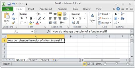 how to change the tab font color in excel 2007 ms excel